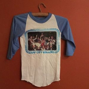 Vintage 80's baseball graphic tee xs